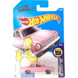 Hot Wheels Simpsons Homer - Carro Rosa